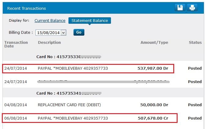 Refund ANZ Paypal