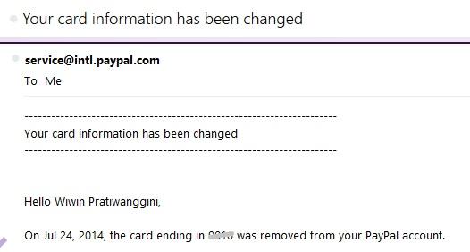 paypal card change