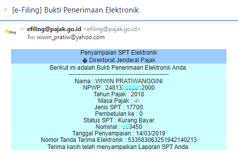 SPT Tahunan 2018