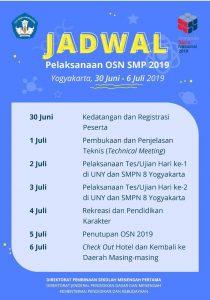 jadwal osn smp 2019