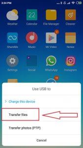 transfer data dari hp xiaomi