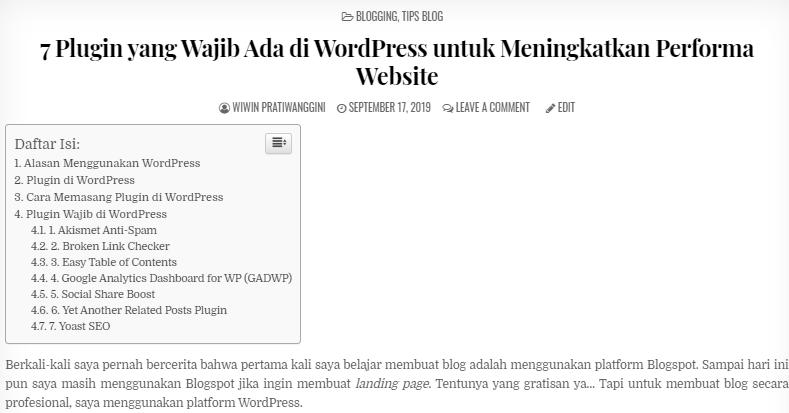 plugin wajib di wordpress
