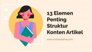 cara membuat struktur artikel blog