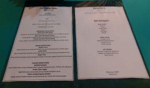 gadjah wong dinner menu