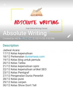 absolute writing