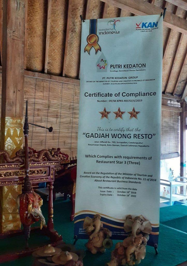 gadjah wong sertifikat