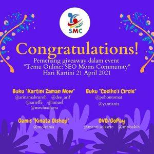 pemenang giveaway temu online seo moms community