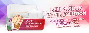 AC LG Dualcool promo free voucher hand sanitizer